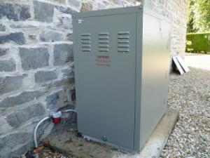 We supplied and installed a Grant Vortex external condensing oil boiler.